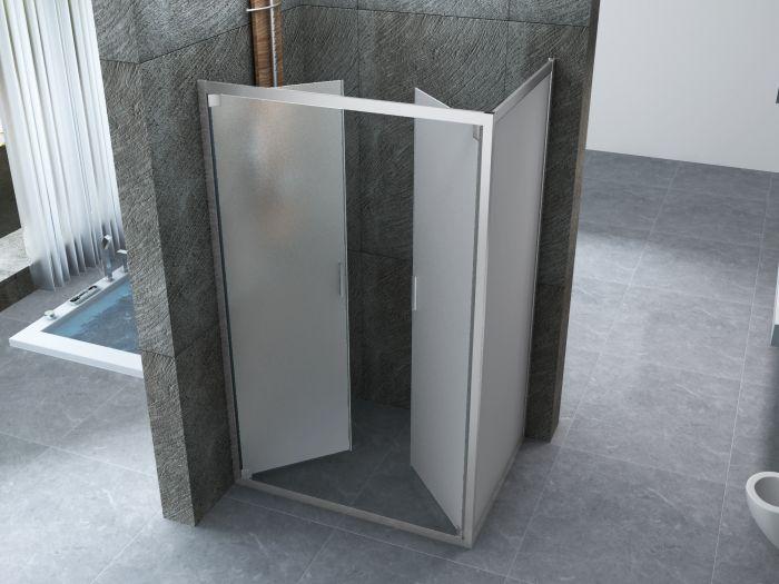 box doccia apertura doppio battente interno ed esterno a saloon